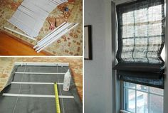 How To Make Roman Shades From Mini-Blinds. Do this with the blinds in the pantry.
