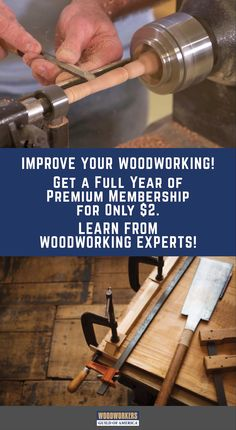 Join the Woodworkers Guild of America at 97% off the regular price (normally $55). Join today and you'll get a whole year of our best Premium instructional videos, helpful tips & amazing projects for only $2! Pioneer Woman Dishes, Build Your Own House, Woodworking Projects, Helpful Hints, Improve Yourself, Useful Tips, Woodworking Crafts, Wood Carving, Woodworking
