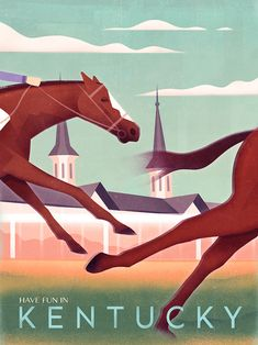 Items similar to Poster Vintage - Kentucky - Wall Art - Horse on Etsy Poster Retro, Vintage Travel Posters, Vintage Advertisements, Vintage Ads, Vintage Trends, Party Vintage, Tourism Poster, Design Poster, Design Art