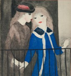 (France) Two girls with flowers by Marie Laurencin Georges Braque, Girls With Flowers, Portraits, Art Moderne, Art Studies, French Artists, Printmaking, Oil On Canvas, Modern Art