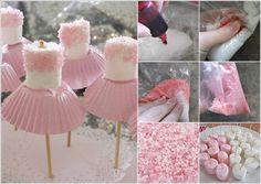 Cute Simple Marshmallow Ballerina Treats