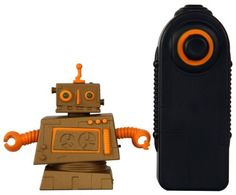 Clunk (Copper/Orange) by Senario. $24.99. From the Manufacturer                Mini Collectable Robots come to life with R/C. Battle with your friends. 12 hot Zibit designs available, collect them all.                                    Product Description                Mini Collectable Robots come to life with R/C. Battle with your friends.?12 hot Zibit designs available, collect them all.Features include: •Drive forward•360 Radius turn•Awesome Robot sound effect