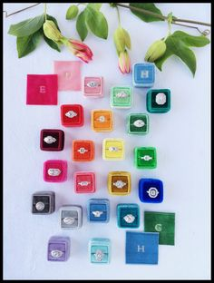 The Mrs. Box: a vintage French Velvet ring box made in all kinds of beautiful colors.