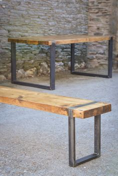 Industrial bench seating from our 'Wood & Steel' by OriginSouth