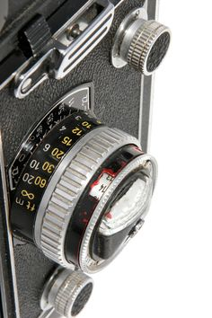 Camera Rolleiflex Biotic. Germany 1960. Museo Nicolis collection. Detail.