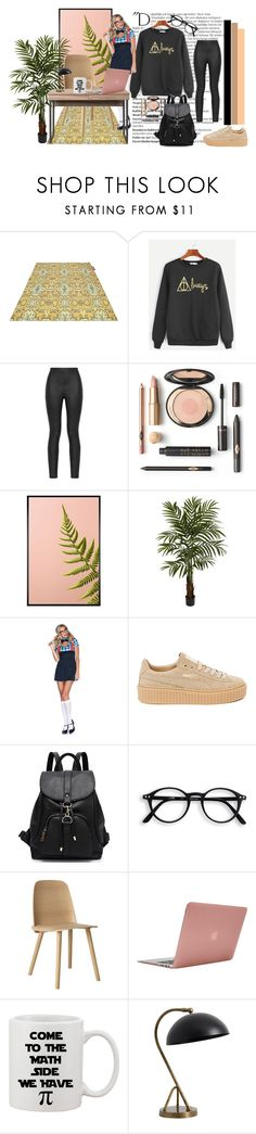 """Study hard, play hard"" by littlediva ❤ liked on Polyvore featuring Balmain, Fatboy, Armani Jeans, Pottery Barn, Nearly Natural, Puma, Muuto and Incase"
