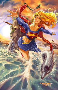 Women heroine are great. Do you know any who is not a female copy of a manly hero?   Super Girl by Stephen Jorge Segovia