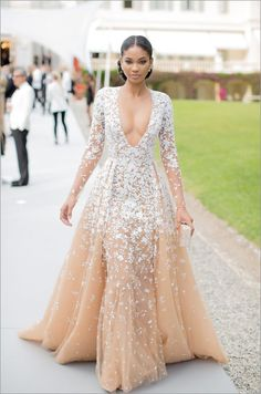 Chanel Iman. amfAR Gala in Cap d'Antibes in the French Riviera.