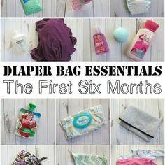 Diaper Bag Essentials: 0-6 Months