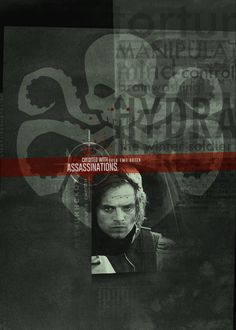 """I figured out what the text in the upper right corner says (behind the larger words). It reads, """"It is therefore our recommendation that Codename: Winter Soldier be kept in stasis between missions and that he undergo mental implantation at every awakening. We believe this will correct his instability issues, so he can continue to be of use to Department X.""""  That's ok, I didn't need my heart today. Go ahead and tear it out..."""