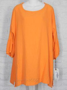 OH MY GAUZE Circus Top Tunic Boho Creamsicle Orange NWT Size 1 Small Medium #OhMyGauze #Tunic #Casual