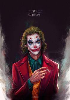 Joker (Joaquin Phoenix) by CuddlyVeedles on DeviantArt Joker Y Harley Quinn, Joker Dc, Gotham Batman, Batman Art, Batman Robin, Joker Frases, Joker Quotes, Joaquin Phoenix, Comic Del Joker