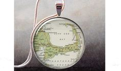 Cape Cod map pendant, Cape Cod jewelry resin pendant, Cape Cod necklace photo pendant. $8.95, via Etsy.