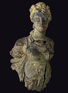 Female Figurehead, attributed to Simeon Skillin, Jr. (1756?-1806), America, ca. 1805, wood, paint