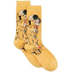 Hot Sox Women's The Kiss Socks ($8) ❤ liked on Polyvore featuring intimates, hosiery, socks, fillers - yellow, sunflower, hot sox, hot sox socks, trouser socks and yellow socks