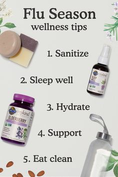 Flu season is about to be in full swing. Here's five tips to keep you healthy — including staying rested and supporting your immune system with our Seasonal mykind Organic Herbals. Garden Of Life Vitamins, Flu Season, Wellness Tips, Immune System, Herbalism, Clean Eating, Organic, Healthy, Herbal Medicine