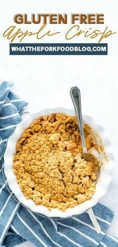 This delicious gluten free apple crisp recipe will be your new favorite thing this fall season! This recipe is easy to make and absolutely amazing. Soft, sweet apples with a deliciously crispy topping. And all gluten free! Make this dessert after a fun day of apple picking, you won't regret it.