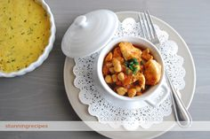 Easy recipes, stunning presentations: Chicken & chickpeas in a spicy tomato sauce