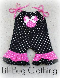 Custom Boutique Clothing Minnie Mouse Jumper Short. $35.00