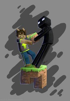 Minecraft- Drop the block, Enderman!