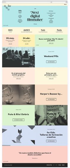 Web Mr Marcel School by Tata&Friends —, via Behance. If you like UX, design, or design thinking, check out theuxblog.com