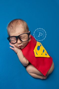 Super Hero Costumes for Newborns - Photography Prop - Halloween - Batman, Superman & Robin