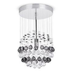 Denver Ceiling Fitting Chrome / Smoked and Clear