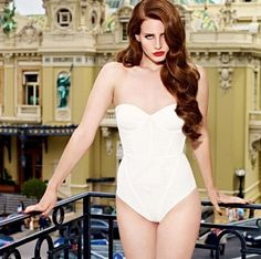 69d44d85ab Lana Del Rey classic white with red lipstick