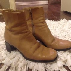 Gianni Bini Boots They are in pretty good condition, but one has a small ink stain in the front. Show in second picture. Tip of boots show a little bit of scratch but it's do to wear. Make me a reasonable offer, they don't fit me anymore. Gianni Bini Shoes Ankle Boots & Booties