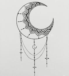 mandala moon design - Google Search