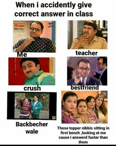 Latest Funny Jokes, Funny School Jokes, Funny Jokes In Hindi, Some Funny Jokes, Really Funny Memes, Crazy Funny Memes, Funny Puns, Funny Relatable Memes, Haha Funny