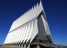 United States Air Force Academy's Cadet Chapel in Colorado Springs, Colorado