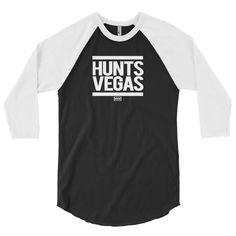Vegas Whiteprint 3/4 Sleeve Raglan Men's Tee