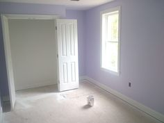 "Benjamin Moore - lavender ice- hmmm way to ""cool""... needs a warmer color"