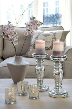 decor, flowers, and candle image