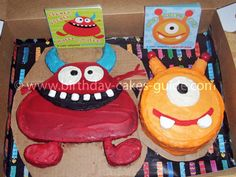 monster cakes  @Jennifer Phillips and @Roxi Phillips  this reminds me of the awesome cake dad made jenn for her bday.. but his was better!!