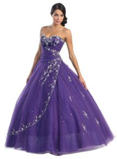 Ball Gown Formal Prom Strapless Wedding Dress #2586