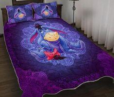 eeyore Eeyore Gifts, Purple Seat Covers, Eeyore Pictures, Walt Disney Princesses, Disney Bedding, Bed Comforter Sets, Disney Rooms, Quilted Gifts, Home