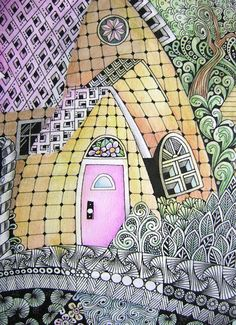 Enthusiastic Artist: Ten tangled houses