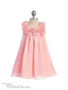04885d9716 Pink HI Multi Chiffon Fancy Infant Dress Cute Flower Girl Dresses