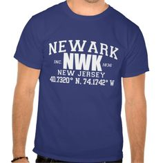 Different, fun & stylish grab your NEWARK City Incorporated Coordinates Tee from www.citystyletees.com today and show some city love. You'll be glad you did.