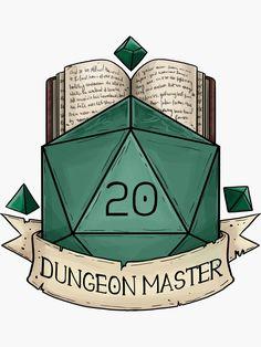 'D & D – – Dungeon Master' Aufkleber von Dungeons And Dragons Memes, Dungeons And Dragons Homebrew, Dungeon Master's Guide, Dnd Art, Pen And Paper, Fantasy Creatures, Sticker Design, Geek Stuff, Stickers
