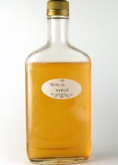 Homemade tonic syrup