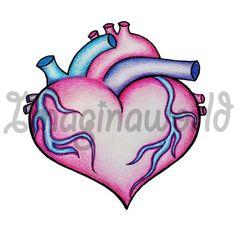 Anatomical Heart Morph Tattoo by imaginaworld