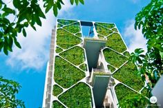 Upon completion in 2014 this Singapore condominium set a Guinness World Record for being the worlds largest vertical garden. Its four towers each 24 storeys high are encased in lush foliage that filter pollutants and carbon dioxide out of the air to reduce the residential estates carbon footprint. While the green wall removes greenhouse gas emissions to minimise heat absorption state-of-the-art windows make use of heat-reducing technology keeping homes cool throughout the day.  Located…