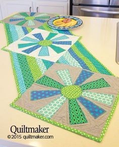Lunch in the Sunshine Table Runner Quilt Pattern 51x17