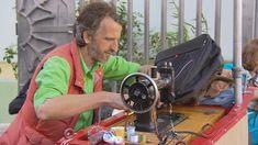 Man uses sewing machine to mend neighborhood's heart - CBS News