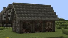 Medieval Animal Barn Tutorial Minecraft Project (Tutorial video link is dead; image for inspiration only)