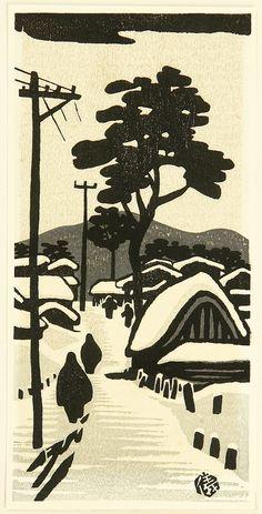 Okuyama Gihachiro, Snowy Path