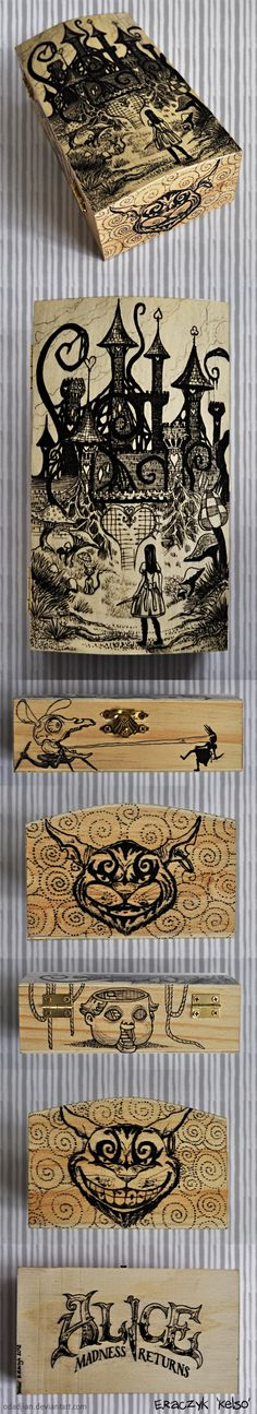 Alice Madness Returns woodenbox by Odadjian.deviantart.com